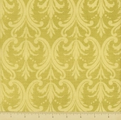 Francesca Cotton Fabric - Damask - Ivory