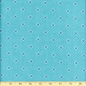 Franklin Geometric Calico Cotton Fabric - Glen