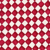 French Hens Cotton Fabric - Red