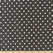 French Market Dots Cotton Fabric - Grey