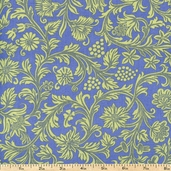 French Market Floral Cotton Fabric - Blue