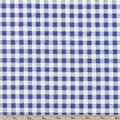 French Market Gingham Cotton Fabric - Blue