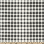 French Market Gingham Cotton Fabric - Grey