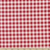 French Market Gingham Cotton Fabric - Red