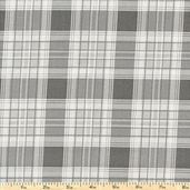 French Market Plaid Cotton Fabric - Grey