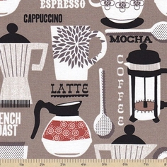 French Roast Cotton Fabric - Taupe