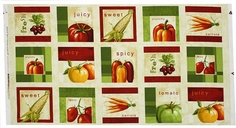 Fresh and Tasty Cotton Fabric - Craft Panel Multi
