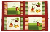 Fresh and Tasty Cotton Fabric - Panel - Multi-Color Q.1409-86289-317W