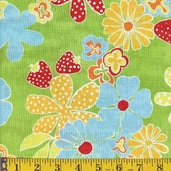 Fresh as a Daisy Cotton Fabric - fiesta