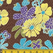 Fresh as a Daisy Cotton Fabric - pastel - CLEARANCE