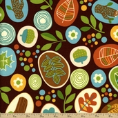 Fresh Meadows Cotton Fabric - Brown 3836-60275-90