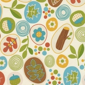 Fresh Meadows Cotton Fabric - Cream
