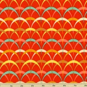 Frippery Arches Cotton Fabric - Orange 5816-Y
