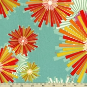 Frippery Fireworks Cotton Fabric - Teal 5813-Y