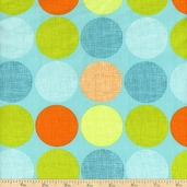 Frolicking Forest Dots Cotton Fabric - Blue
