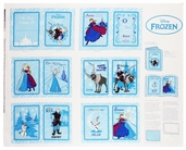 Frozen Anna's Friends Cotton Fabric Panel