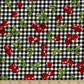 Fruit Basket Cotton Fabric - Onyx EVK-6695-181 - Clearance