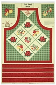 Fruit Salad Cotton Fabric - Apron Panel Yellow Q.1803-98517-537
