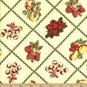 Fruit Salad Cotton Fabric - Yellow Q.1803-98519-173