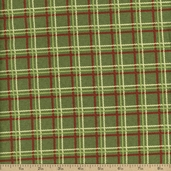 Fruit Salad Plaid Cotton Fabric - Green