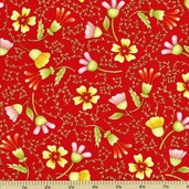 Fruitful Hands Cotton Fabric - Red 9432-88