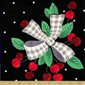 Fruits and Vegetables Cotton Fabric - Cherries Jubilee