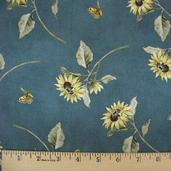 Full Sun II Cotton Fabric - Blue