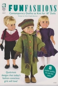 Fun Fashions Contemporary Outfits to Knit for 18 inch Dolls by Andra Knight-Bowman