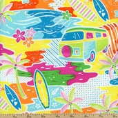 Fun In The Sun Beach Cotton Fabric - Multi FUN-C1151-MULTI