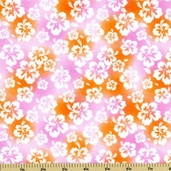 Fun in the Sun Floral Cotton Fabric - Pink - Clearance