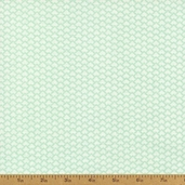 Fundamentals Scales Cotton Fabric - Aqua