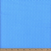 Fundamentals Scales Cotton Fabric - Sky Blue
