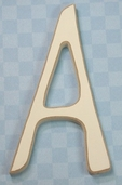 Funky Wood Letter 5-1/2in. - A