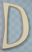Funky Wood Letter 5-1/2in. - D