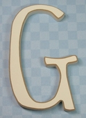 Funky Wood Letter 5-1/2in. - G