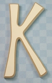 Funky Wood Letter 5-1/2in. - K