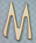 Funky Wood Letter 5-1/2in. - M