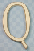 Funky Wood Letter 5-1/2in. - Q