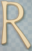 Funky Wood Letter 5-1/2in. - R