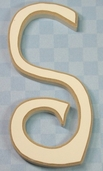 Funky Wood Letter 5-1/2in. - S