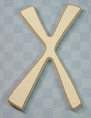 Funky Wood Letter 5-1/2in. - X