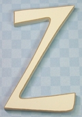 Funky Wood Letter 5-1/2in. - Z