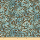 Fusions 11 Cotton Fabric - Aqua AJH-5572-70