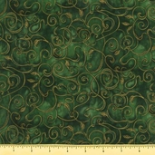 Fusions 11 Metallic Cotton Fabric - Emerald AJHM-5572-40