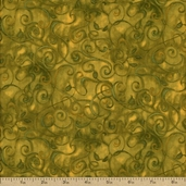 Fusions 11 Metallic Cotton Fabric - Olive AJH-5572-49