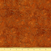 Fusions 11 Metallic Cotton Fabric - Russet AJHM-5572-180