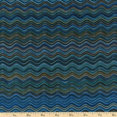Fusions 4 Squiggles Cotton Fabric - Teal ETJ-12886-213 TEAL