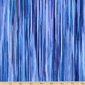 Fusions 4 Stripe Cotton Fabric - Peacock ETJ-12883-78 PEACOCK