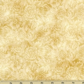 Fusions Collection Bouquet Cotton Fabric - Sand ETJ-10604-153