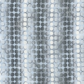 Fusions Collection Full Circle Cotton Fabric - Silver